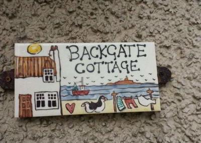 Backgate Cottage sign